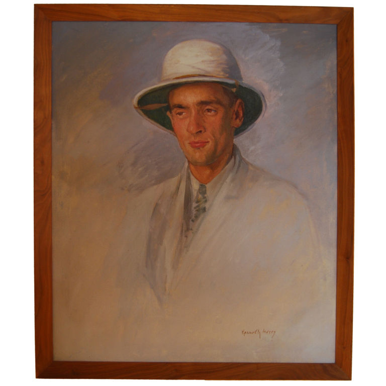 Kenneth Avery   Portrait of a Gentleman in a Pith Helmet $4,500