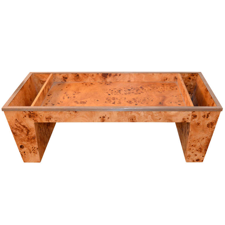 Tomasso Barbi  Burled Wood Bed Tray $1,200