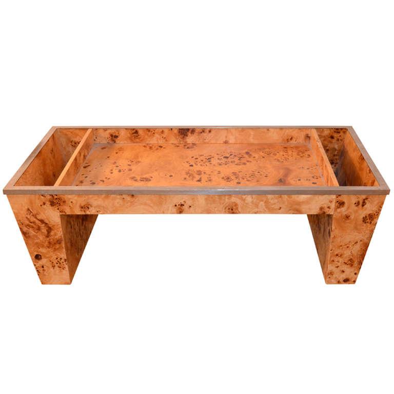 Tomasso Barbi  Burled Wood Bed Tray $1,200