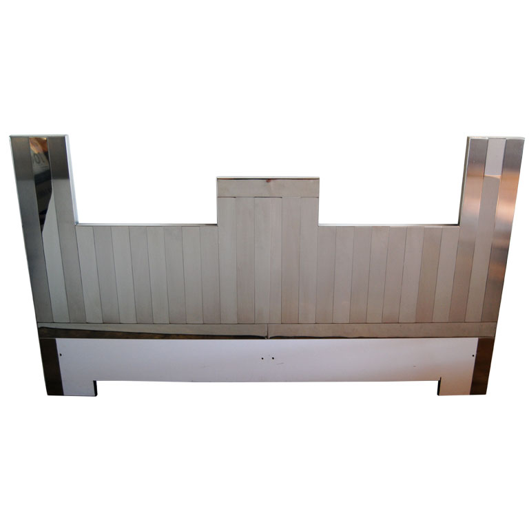 "Paul Evans  Vertical ""Cityscape"" Headboard $4,500"