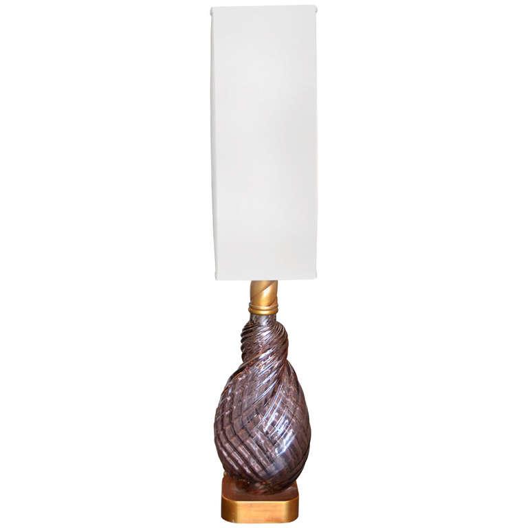 Venini  Lavender Twist Table Lamp $2,200