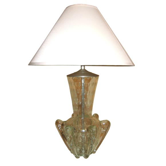 "Barovier  Large Table Lamp with ""Fins"" $1,400"