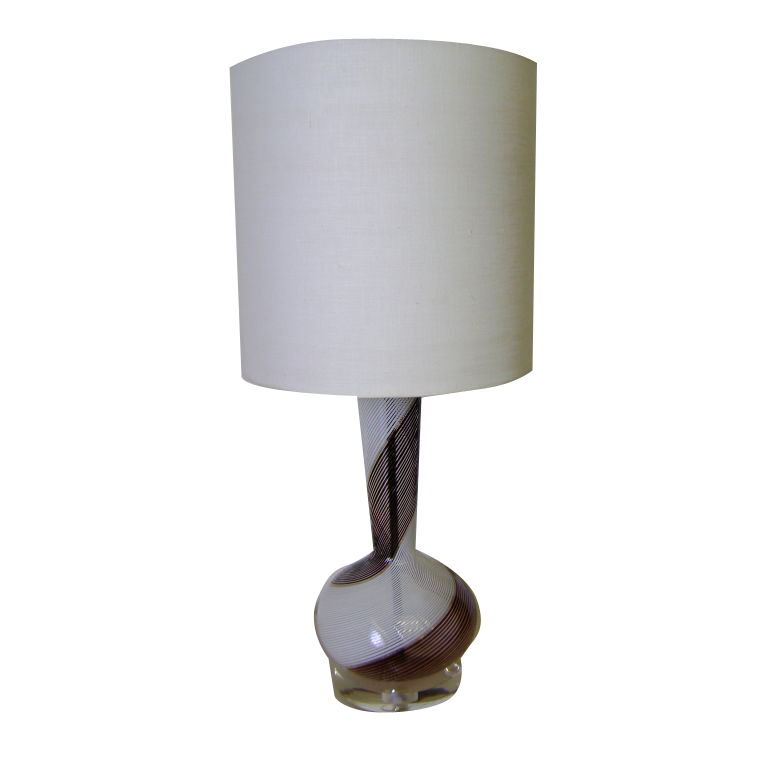 Dino Martens  Aureliano Toso Table Lamp on Lucite Base $1,600
