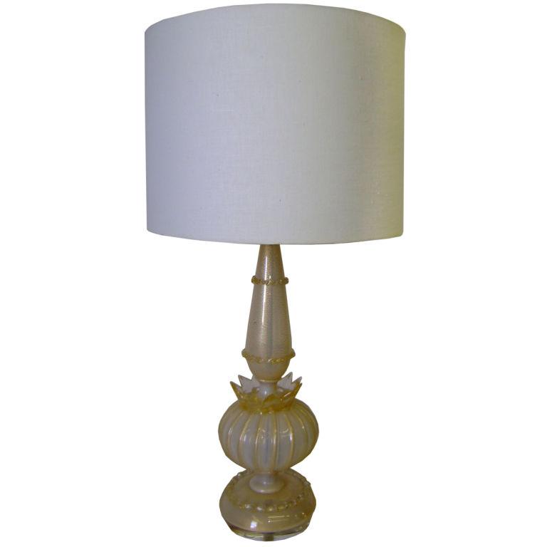 "Barovier and Toso  ""Coronato D'oro"" Table Lamp $1,100"