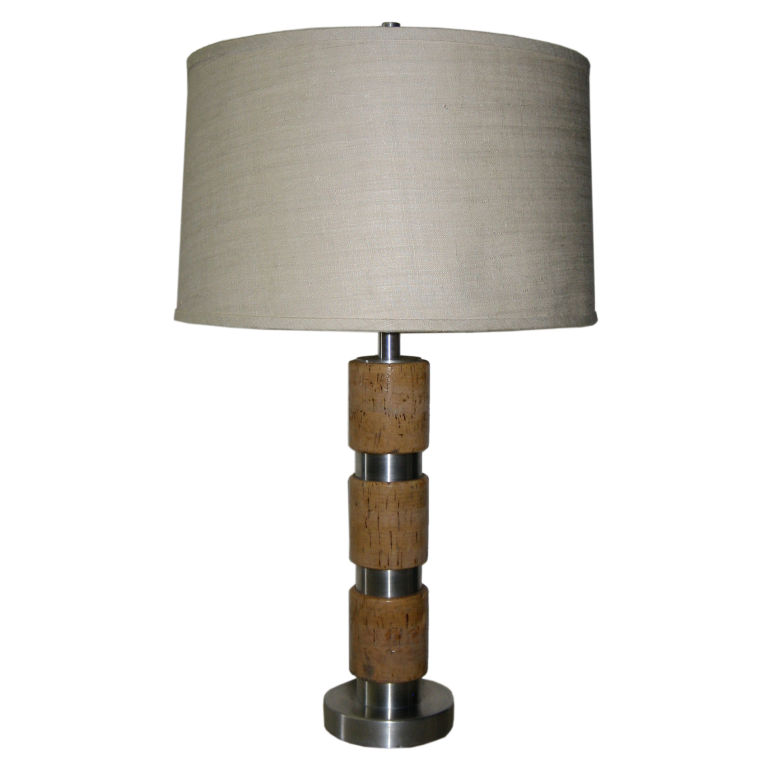 Russell Wright  Cork & Aluminum Table Lamp $1,900