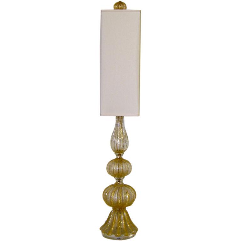 Barovier  Coronato d'Oro Table Lamp with Custom Shade $2,900