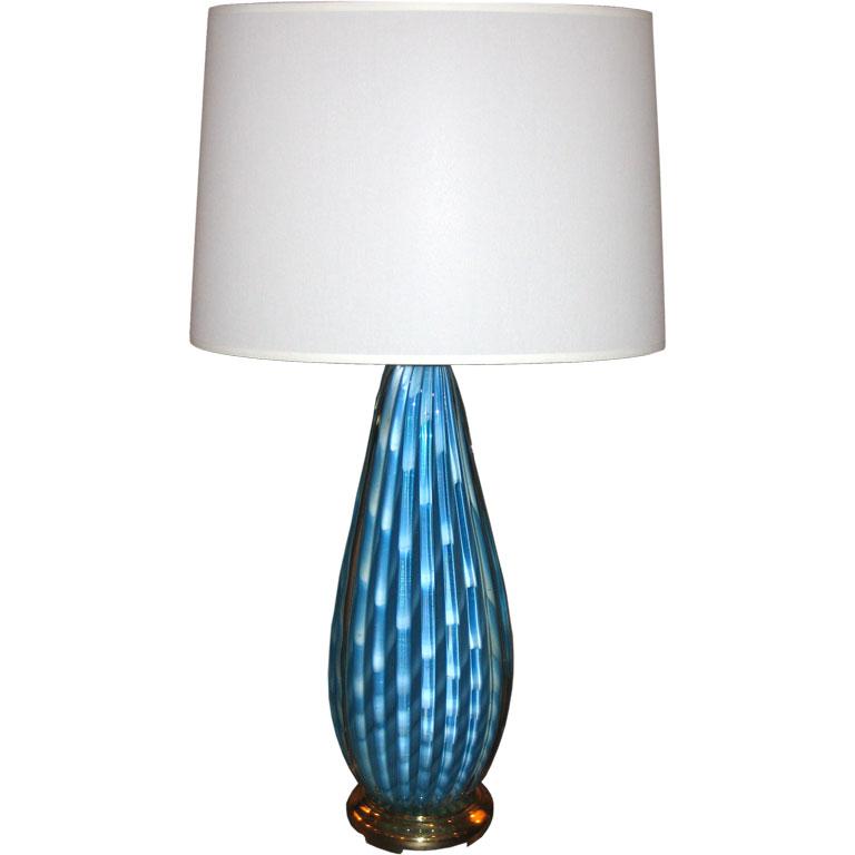 Seguso   Beautiful Blue Table Lamp $1,900