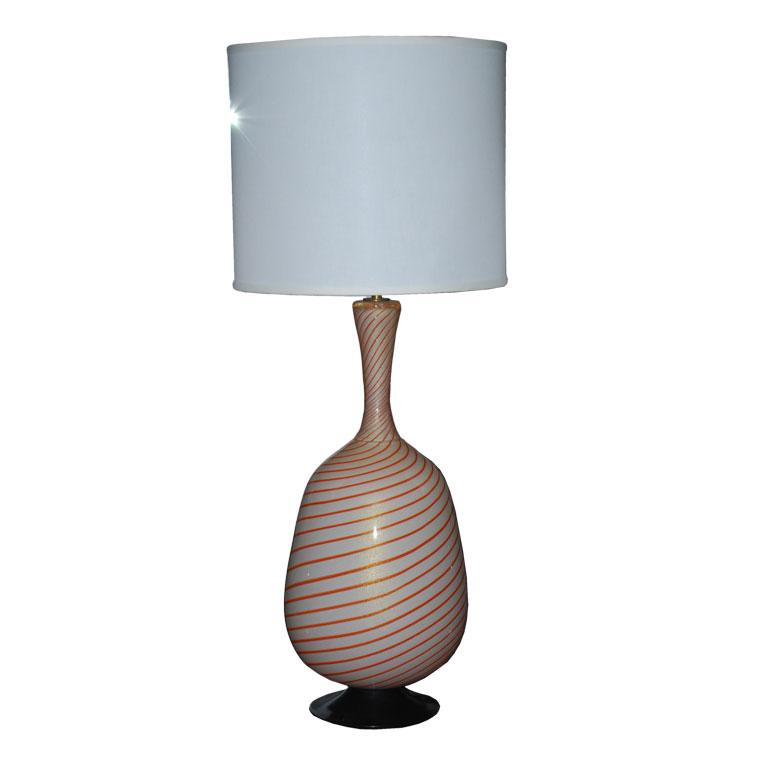 Avem  Huge Striped Table Lamp $3,600