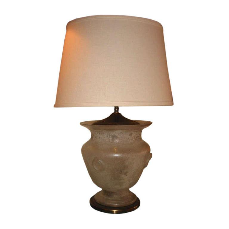 "Alfredo Barbini   Cenedese ""Scavo"" Table Lamp $3,600"