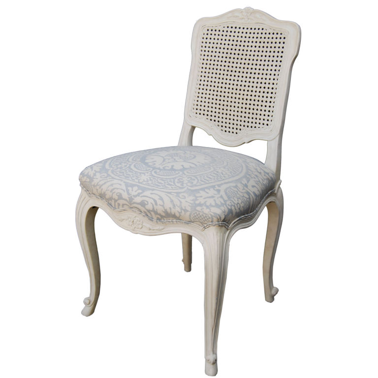 Samuel Marx  Quigley Chair with Fortuny Fabric Seat $5,000