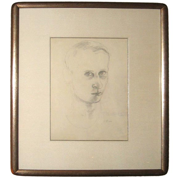 Eugene Berman  Self Portrait in Graphite $3,500