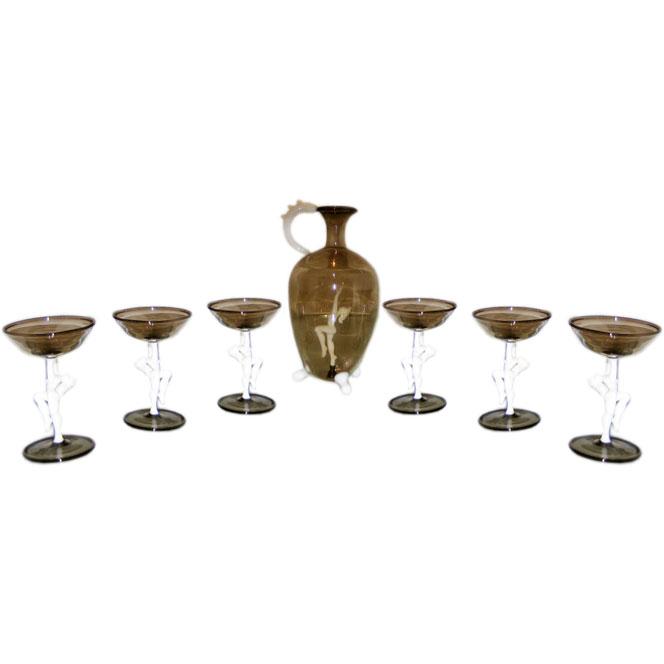 Bimini  Figural Liquor Set $2,200