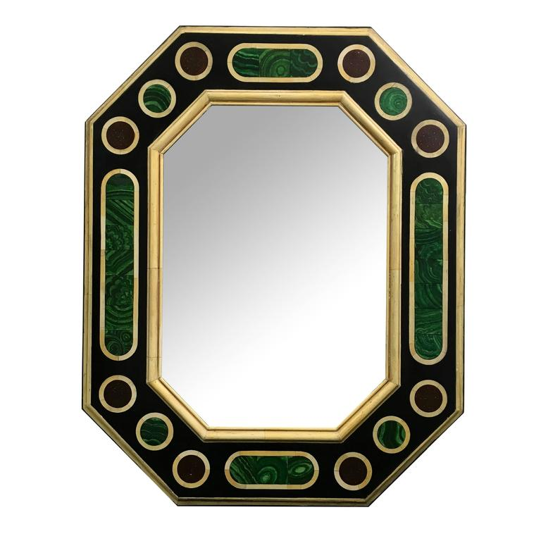 Jean Roger  Faux Malachite and Ivory Wall Mirror $4,500