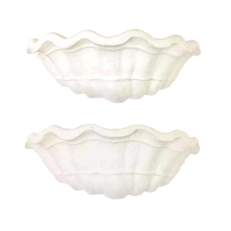 John Dickinson  Pair of Custom Shell Form Wall Sconces $5,000