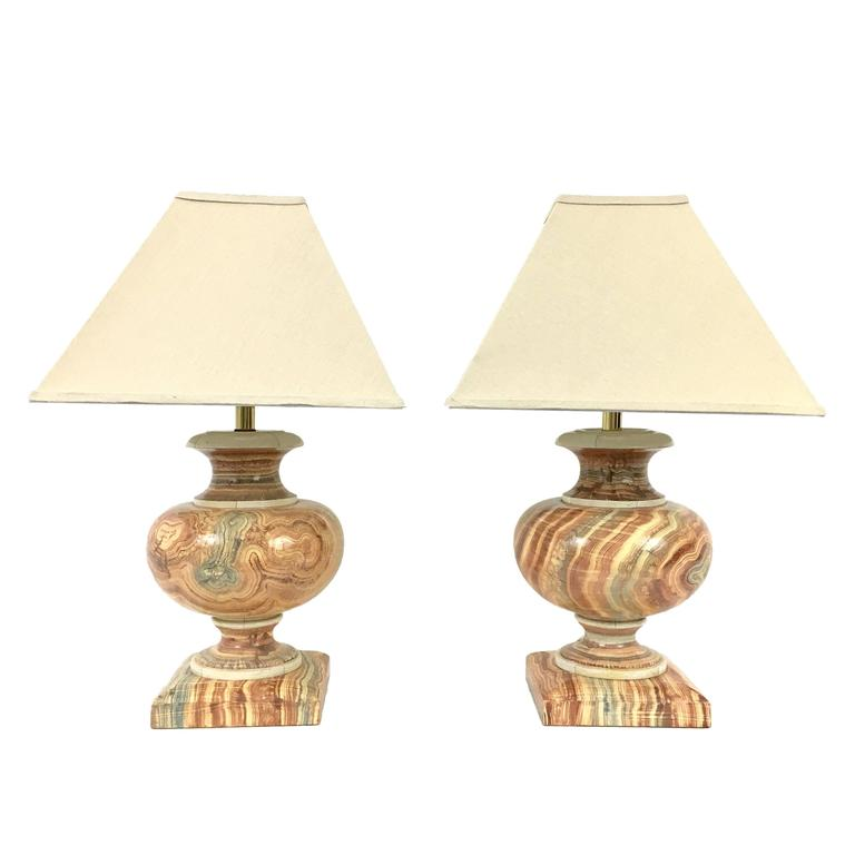 Jean Roger  Faux Onyx Table Lamps $5,000