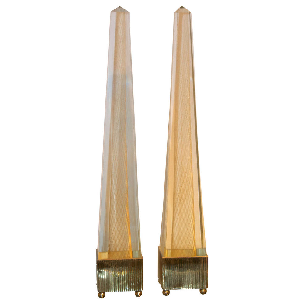 Venini  Obelisks with Gold Inclusion $9,500