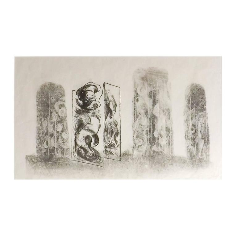 Harry Bertoia  'Columns' Monoprint $3,000