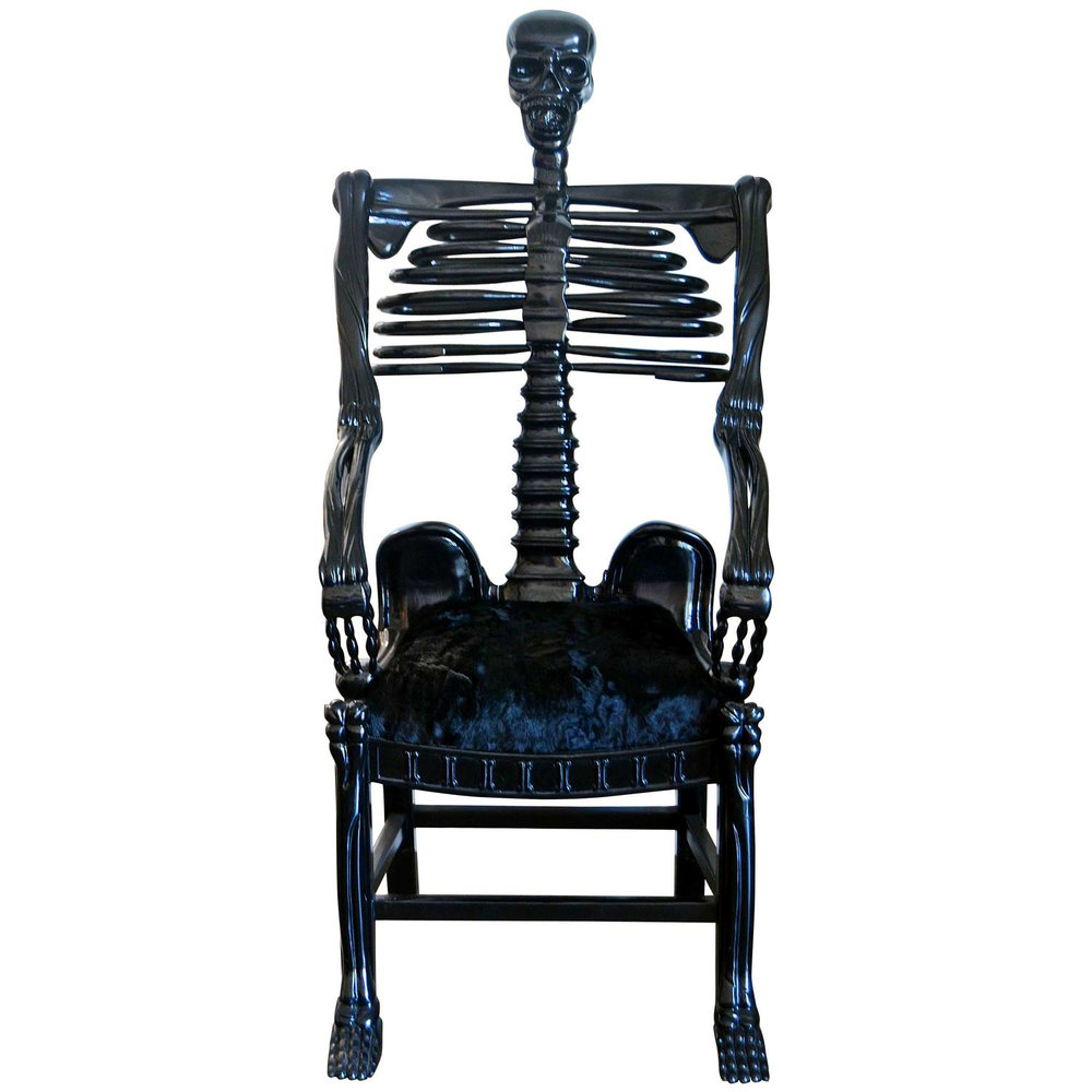 "Russian Folk Art   Very Rare  ""Skeleton"" Chair $85,000"