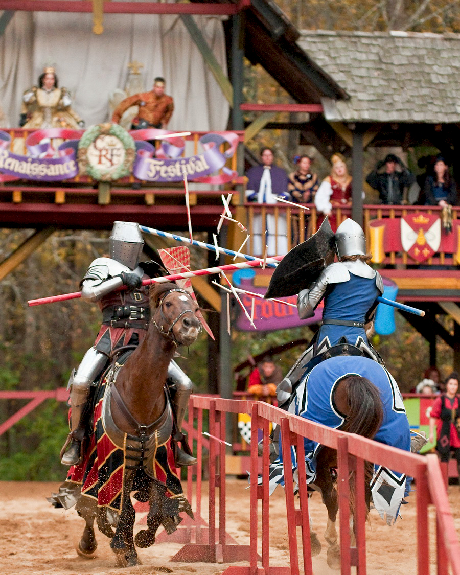 Jousting Knights on Horseback