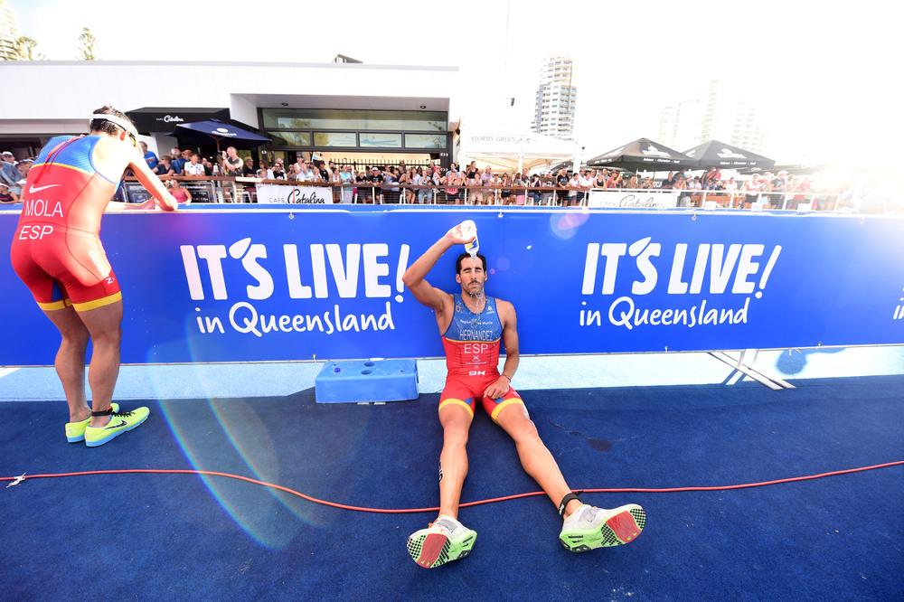 Vicente Hernández en el triatlón de Gold Coast