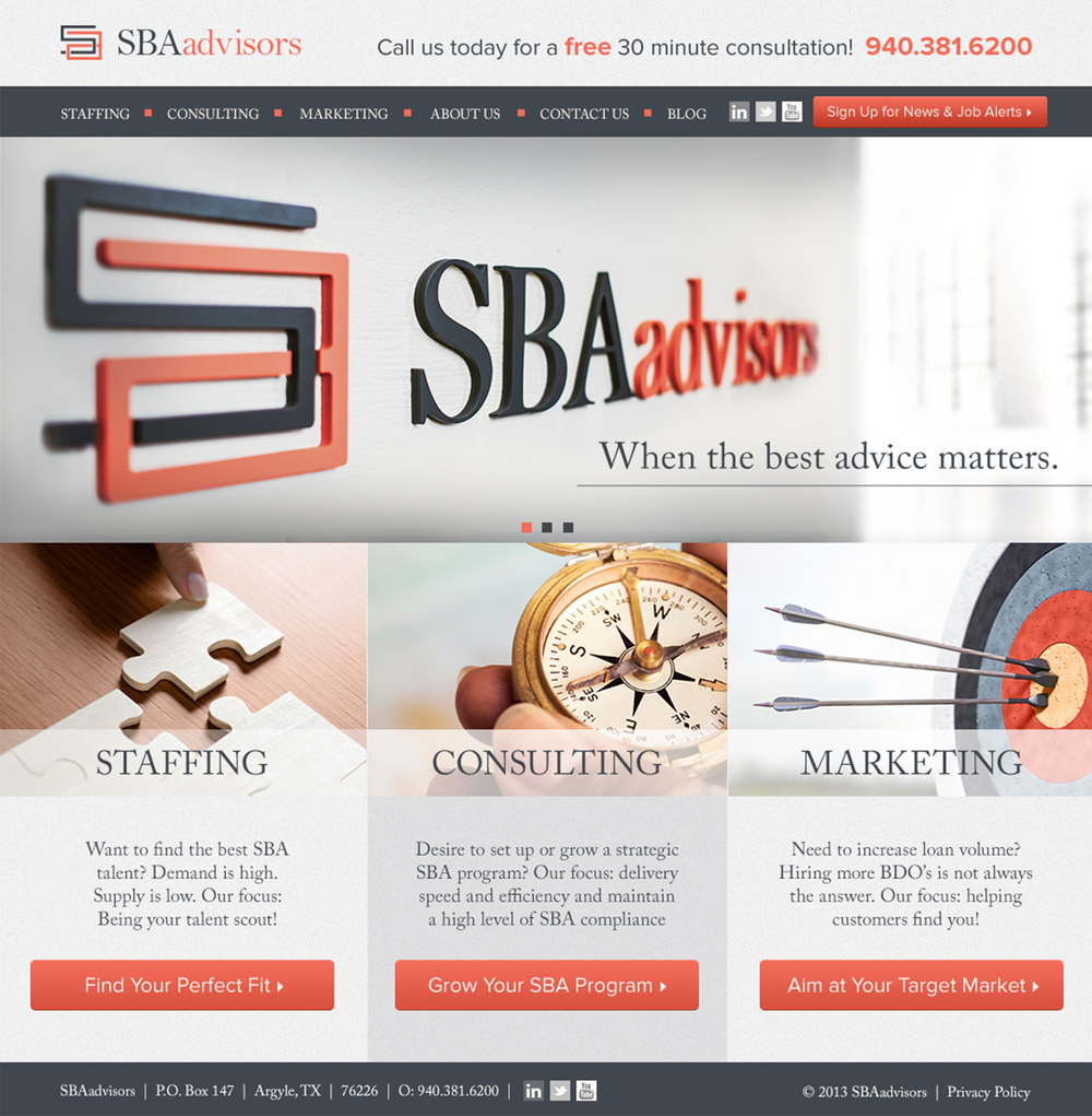 SBAadvisors : A bank staffing and consulting advisory firm |  Developed by Craig Sanders, et al