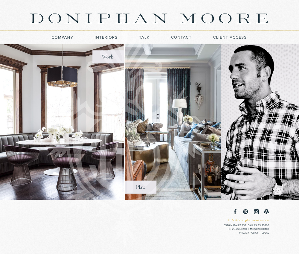 Doniphan Moore : Dallas-based interior designer Doniphan Moore |  Currently in development