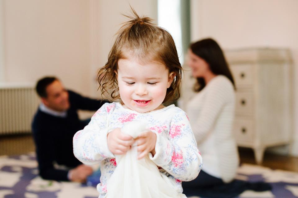 little girl twirls in ballerina skirt