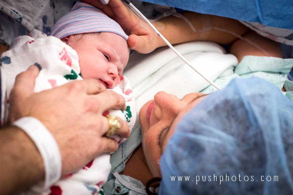 This mama's cesarean birth was priceless to her and so are her birth images documenting the first time she met her son.    www.pushphotos.com
