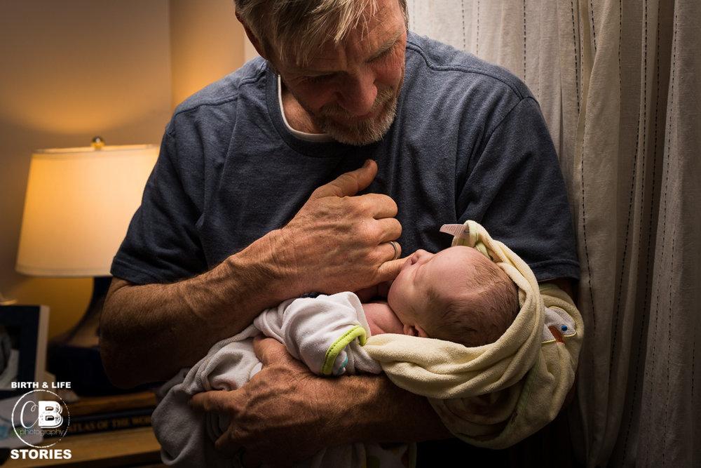 Grandpa and baby