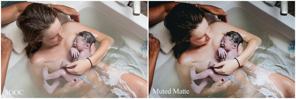 Muted Matte Preset - FILM COLLECTION, Lightroom Preset for Birth Photography