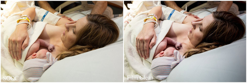 Film Clean Preset - FILM COLLECTION, Lightroom Preset for Birth Photography