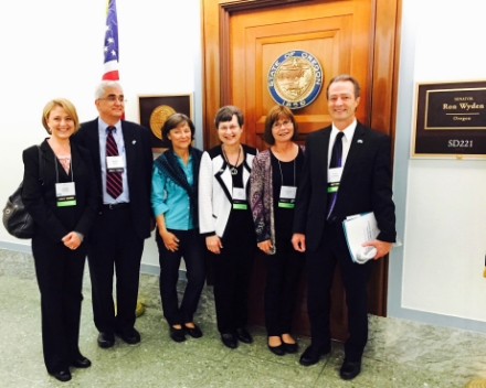 Dawn, Charlie, Cecilia, Mary, Ginny, and me in front of Sen. Ron Wyden's office