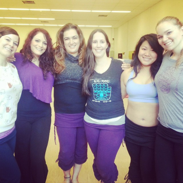 Blush Bellydance Company with Suhaila in Banff in 2014 (Purple Pants!)