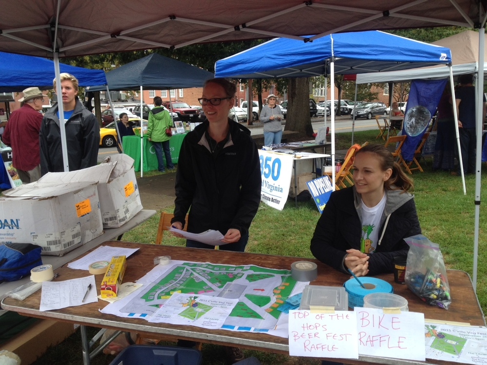 Current lead festival organizer, Heather Phillips (middle) and volunteers at 2015 Veggie Fest