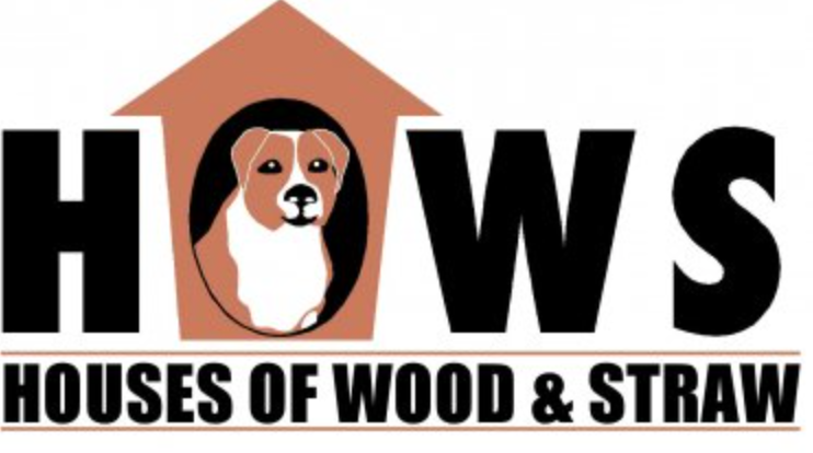 "VOICES FOR ANIMALS / HOUSES OF WOOD AND STRAW  ""The HOWS Project is a community service project in Charlottesville, VA, that builds and distributes wooden dog houses and other essential materials to outside dogs in need of more appropriate shelter."""
