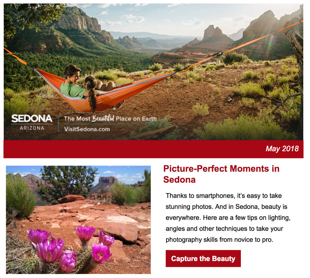 iPhoneography Tips, published in the  2018-2019 Experience Sedona Guide