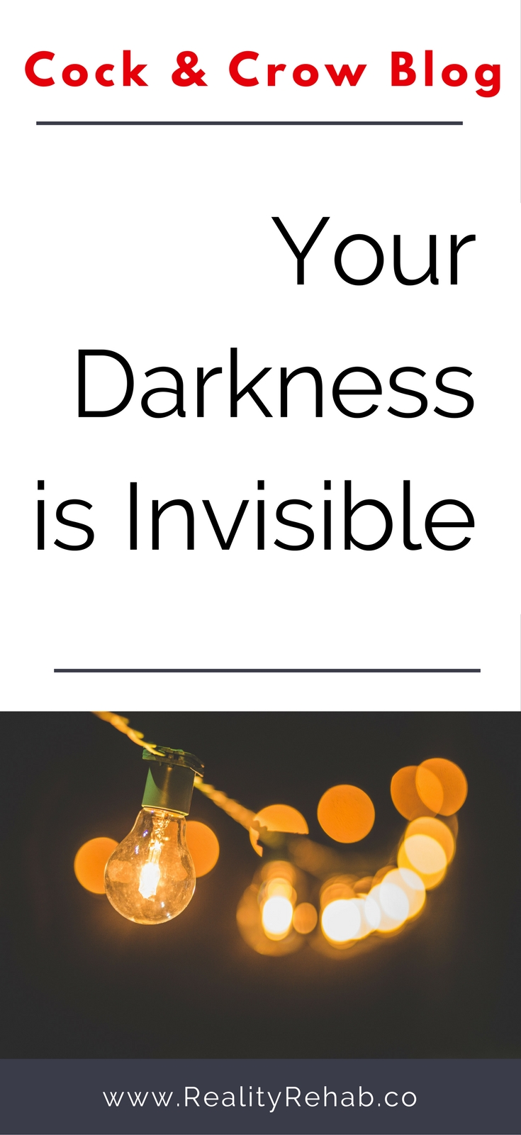 Your Darkness is Invisible | Cock & Crow Blog | #depression #blog #writing #yoga