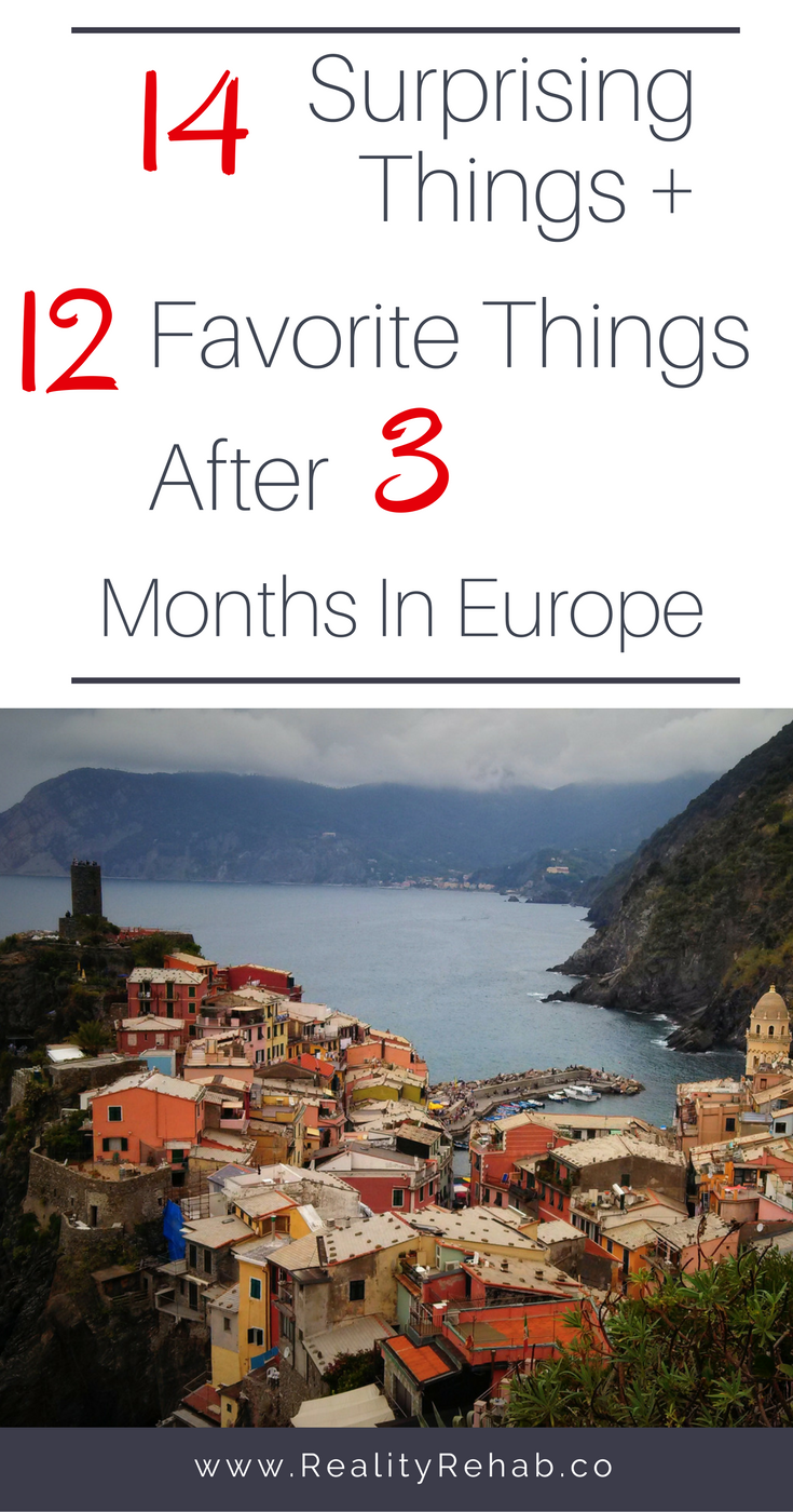 12 Surprising Things After 3 Months in Europe | Cock & Crow Blog #europe #travel #italy #england #hungary