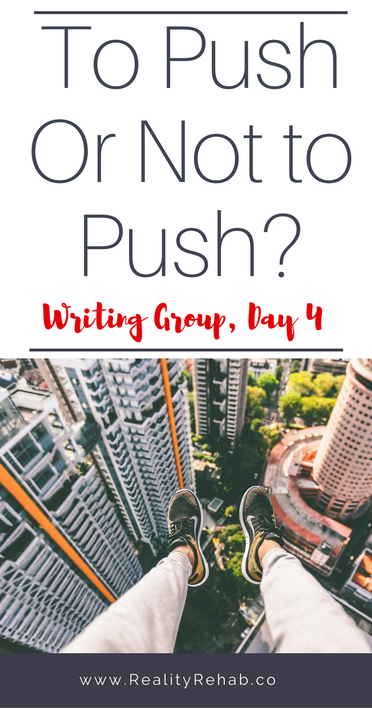 To Push or Not to Push? | Cock & Crow Blog #americandream #manifesting #entrepreneur #writing