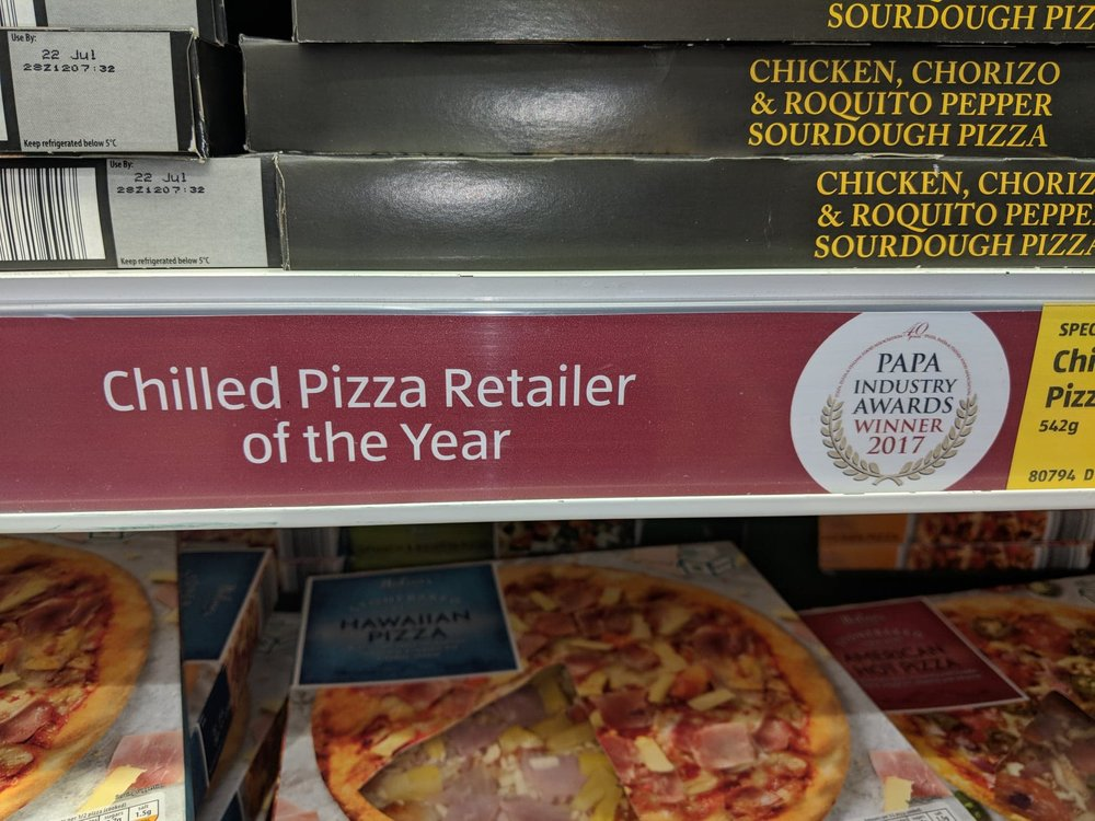 Aldi Chilled Pizza Retailer of the Year