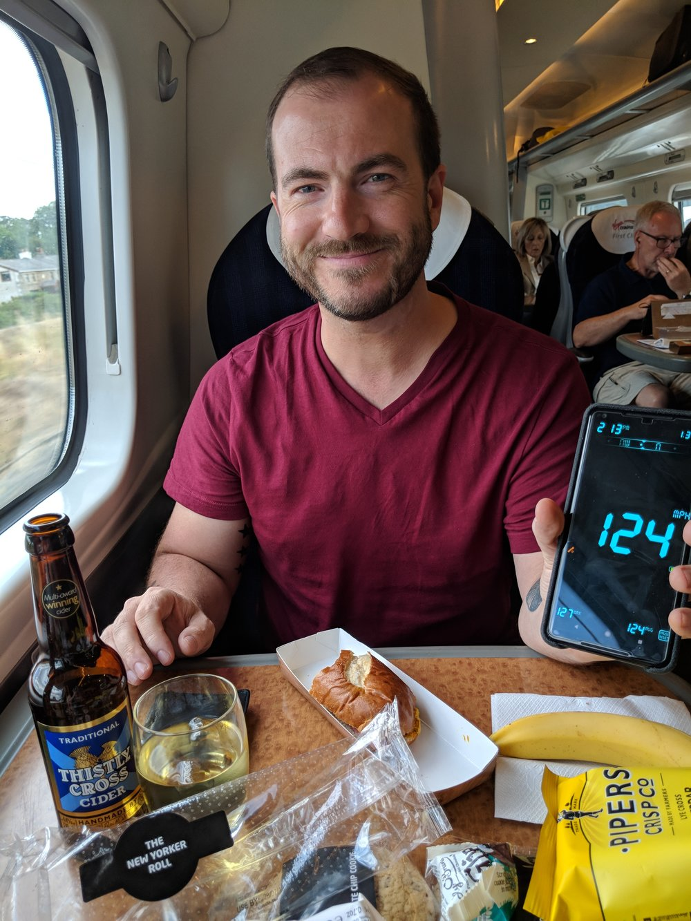 Virgin Trains First Class to Edinburgh, Scotland
