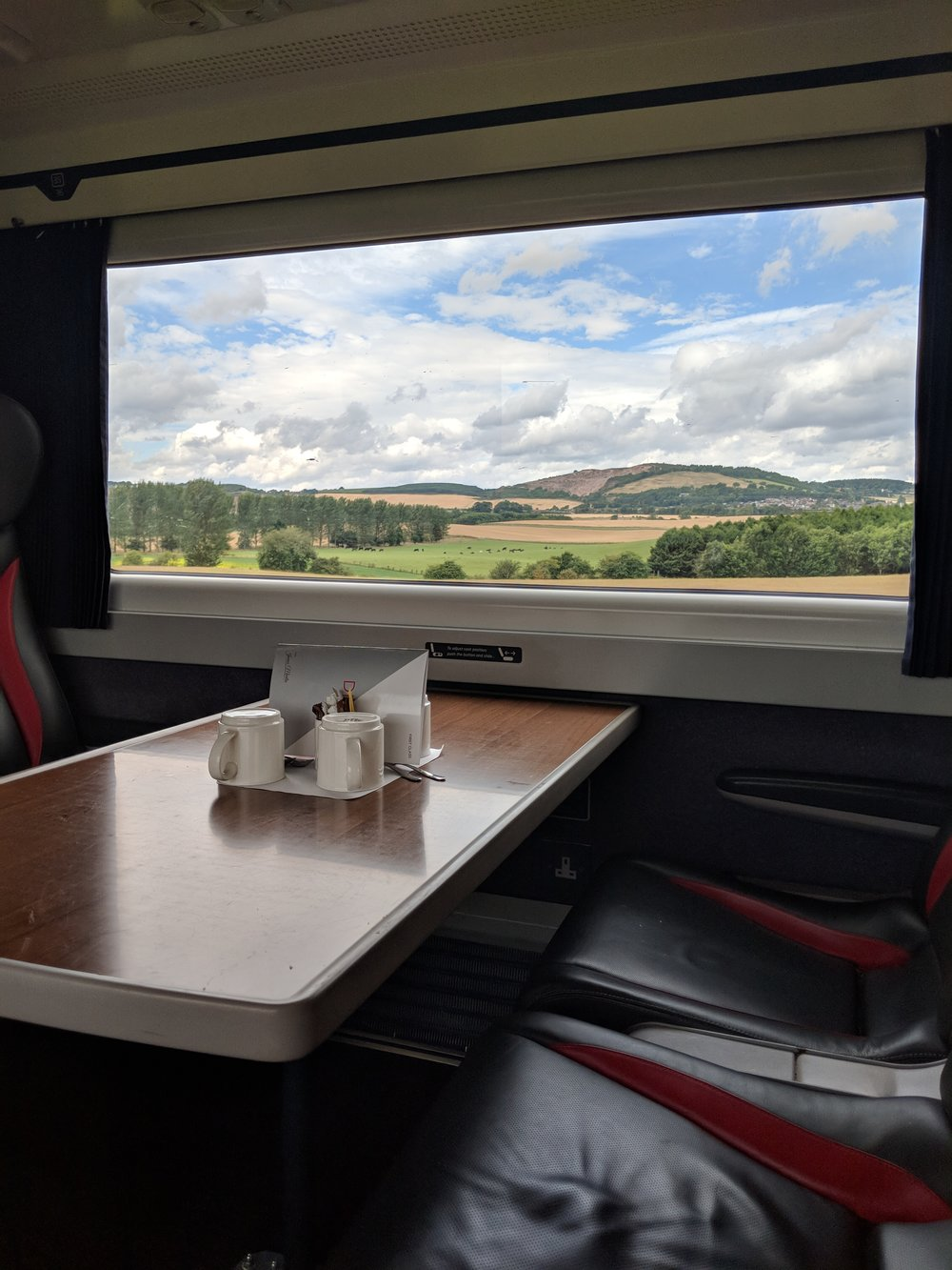 LNER First Class Train Edinburgh to Aberdeen