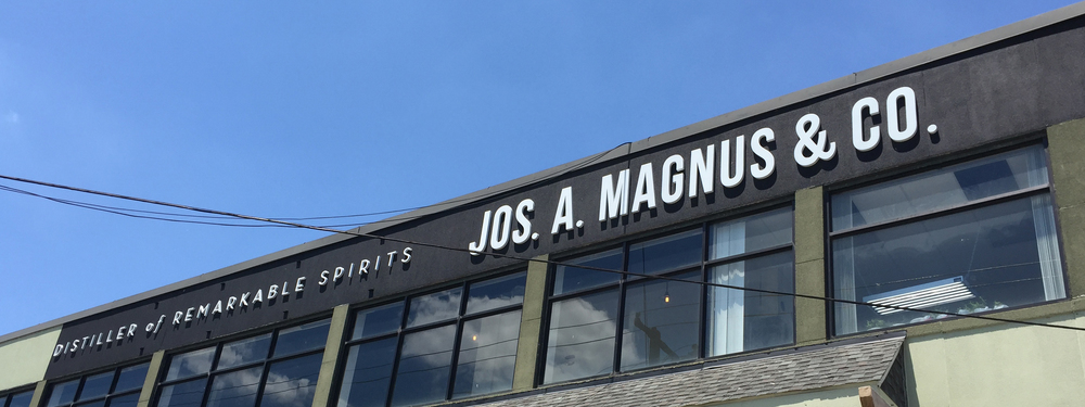 Outside Jos. A. Magnus & Co. Distillery
