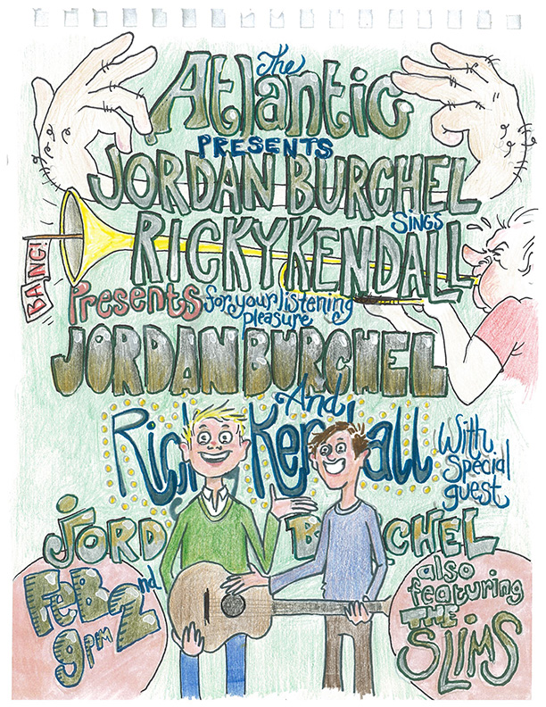 Friday, February 2nd Doors at 9pm, show starts at 10pm  Ricky Kendall and Jordan Burchel take the stage with full bands for the first time in a long time, presented by Tonight's The Night GNV.    RICKY KENDALL  Soulful melodies sending your mind into a tailspin of nostalgia and joy  https://rickykendall.bandcamp.com/   https://www.youtube.com/watch?v=1A-iF73UDEg     JORDAN BURCHEL  Thoughtful commentary set to surefire toe-tappers  http://listentojordan.com/vowel-sounds-1   https://www.youtube.com/watch?v=-maANc7cCzw   THE SLIMS Very special boys borne from the promises of their mothers to achieve anything they put their minds to  https://slims.bandcamp.com/album/slowpoke