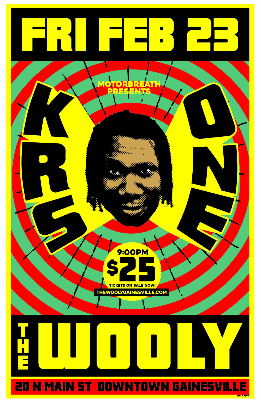 Motorbreath Presents: Friday, February 23rd  Krs One   Live at The Wooly! + more TBA Doors at 9pm $25 (18+ only)   Buy Tickets    HIP HOP ICON Lawrence Krisna Parker is better known by his stage names KRS-One (an acronym for Knowledge Reigns Supreme Over Nearly Everyone), and Teacha.  At the 2008 BET Awards, KRS-One was the recipient of the Lifetime Achievement Award for all his work and effort towards the Stop the Violence Movement as well as the overall pioneering of hip hop music and culture.  Lawrence Parker was born in Flatbush, Brooklyn, New York during the summer of 1965. Parker left home at 16 to become an MC, coming to live at a homeless shelter in the South Bronx where he was dubbed Krishna by residents because of his interest in the Hare Krishna spirituality of some of the antipoverty workers. By the time he met youth counselor Scott Sterling, he was also writing graffiti as KRS-One (Knowledge Reigns Supreme Over Nearly Everyone). Together he and Sterling, a.k.a. DJ Scott La Rock eventually created Boogie Down Productions, releasing their debut album, Criminal Minded, in 1987. KRS-One has been a vegetarian since his youth.  KRS One the lyrical legend drops his new 2017 album 'The World Is Mind'. KRS One brings that Boom Bap back, with tracks like; 'Raw BEAT' and the graffiti tribute 'Out for Fame'. In addition KRS One celebrates the South African clique langue on 'Keep It Clicking' and shares ancient wisdom on the title track 'The World Is Mind'. This is another banger from the Hip Hop legend.