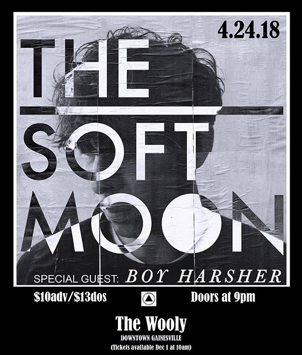 """Tuesday, April 24th Motorbreath Presents:   The Soft Moon   Boy Harsher     Buy Tickets    Doors at 9pm $12adv/$14dos Buy tickets from the link above, Arrow's Aim Records & Hear Again Records     'Criminal', The Soft Moon's fourth studio album, is a confessional work. Through the stark lens of shame and guilt that has followed Luis Vasquez since a violent childhood growing up within the humming ambient sprawl of 80s Mojave Desert, here he documents the gut-wrenching sound of going to war with himself. Battling with his own sanity, self-hatred, insecurity, self-entitlement and grappling with the risk of these things transforming him into a person he despises, Vasquez has laid his feelings bare with this: his confession and most self-reflective work to date. """"Guilt is my biggest demon and has been following me since childhood. Everything I do strengthens the narrative that I am guilty"""" Vasquez reflects. """"The concept of 'Criminal' is a desperate attempt to find relief by both confessing to my wrongdoings and by blaming others for their wrongdoings that have affected me.""""'Criminal' marks a striking and important chapter in his self-exploration, both artistically and emotionally. As a young musician living in Oakland, Vasquez began to try and process the narrative of his difficult upbringing veiled through musical exploration. Taking krautrock's motorik beats and Post-Punk deconstructions and honing them into a hushed percussive incantation, The Soft Moon's self-titled debut album took shape. The album was released in late 2010 by Captured Tracks and was praised by critics and emulated by contemporaries. In 2012 the apocalyptic conceptual work of Zeros emerged, shortly followed by Vasquez moving to Venice, Italy in 2013, acting as a catalyst for 2014's release, Deeper. While previous albums were primarily instrumental records, where Vasquez's voice was diffused amidst the music as another instrument, Deepermarked the beginning of a new musical direction where vocals and """