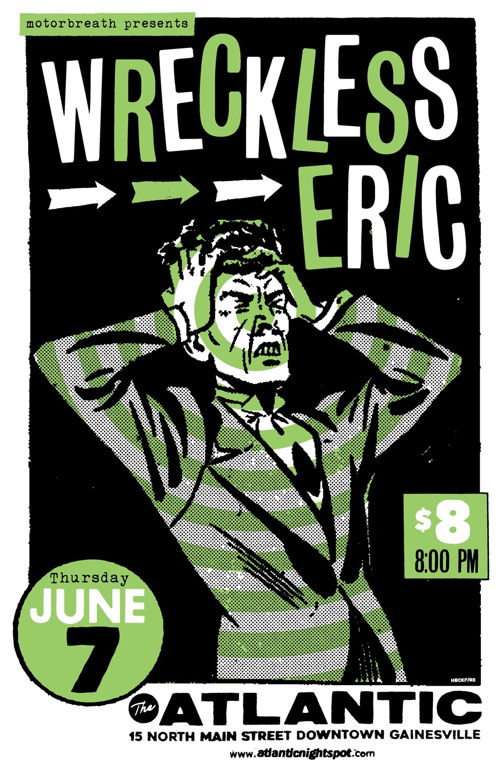 Motorbreath Presents:  Thursday, June 7  Wreckless Eric  + guests TBA  Doors at 8pm, $8