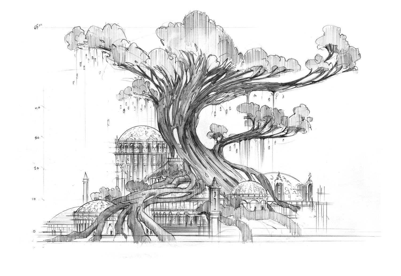 China Theme Park Kurt Kaufman Concept Art Amp Design
