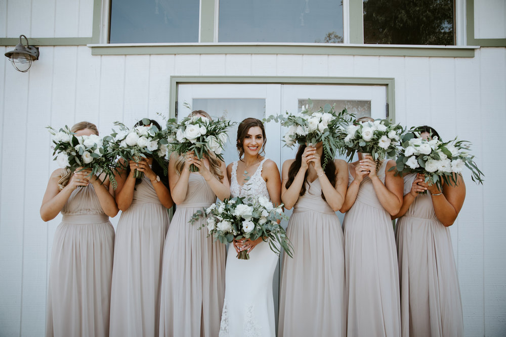 Rancho Del Cielo Malibu Wedding May Iosotaluno Photography Bridesmaids