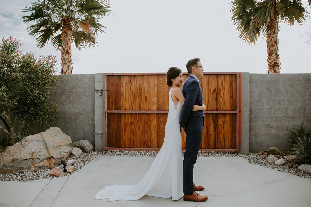 Mid Century Modern Palm Springs Wedding Lautner Compound May Iosotaluno Photography 11